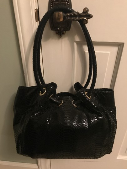 Michael Kors Ring Leather Navy Color Leather Tote in Black Image 2