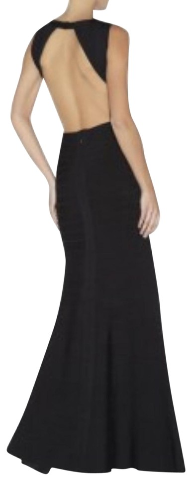 Hervé Leger Black Cassandra Backless Gown