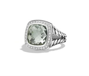 David Yurman Albion® Ring with Prasiolite and Diamonds