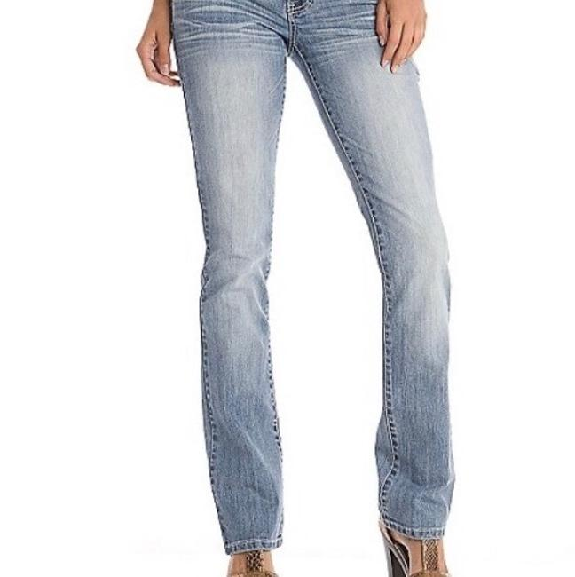 Guess Straight Leg Jeans-Medium Wash Image 1