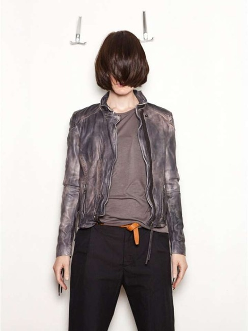 Muubaa Lamb grey-pinkish Leather Jacket