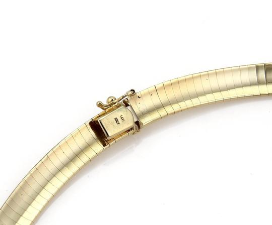 Other Italy 14k Yellow Gold 8mm Wide Soft Flexible Omega Collar Necklace 17. Image 2
