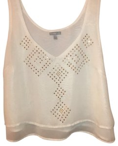 Charlotte Russe Top white and gold