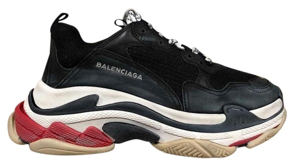 be91dbc4d800 Balenciaga Triple Sneaker Trainer Leather Distressed black Athletic Image 0  ...