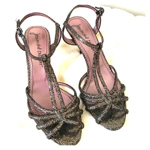 Jean-Michel Cazabat Purple/Bronze Metallic Sandals