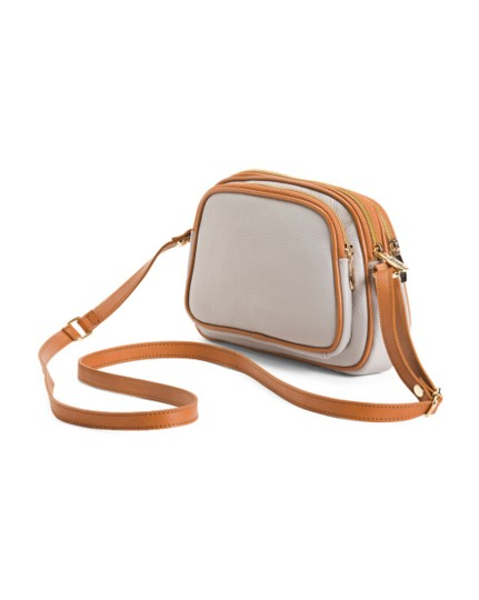 Valentina Brown Leather Cross Body Bag Image 2