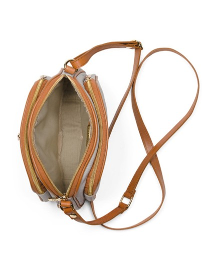Valentina Brown Leather Cross Body Bag Image 3