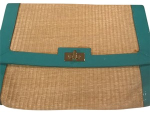 H&M turquoise and beige Clutch