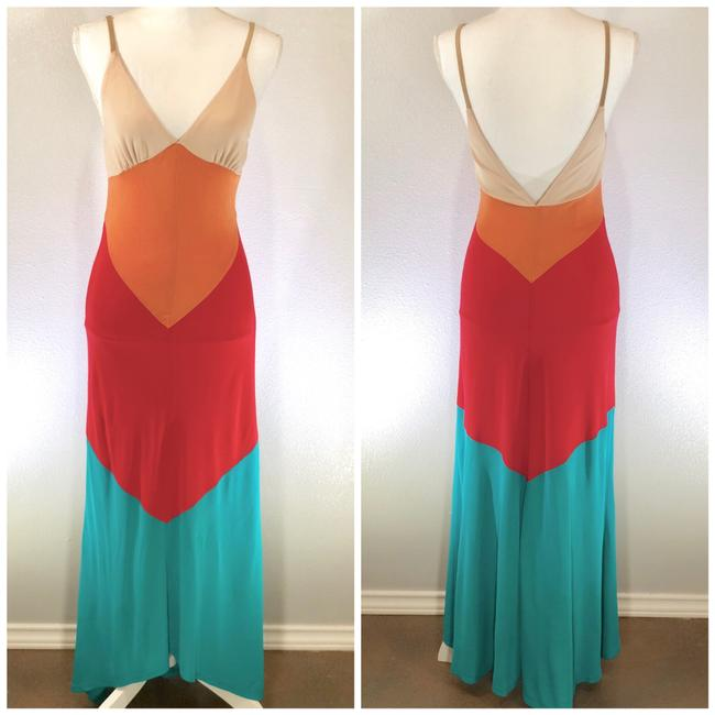 Preload https://img-static.tradesy.com/item/22823550/haute-hippie-nude-orange-red-turquoise-beckley-boho-color-block-v-neck-v-back-long-casual-maxi-dress-0-2-650-650.jpg