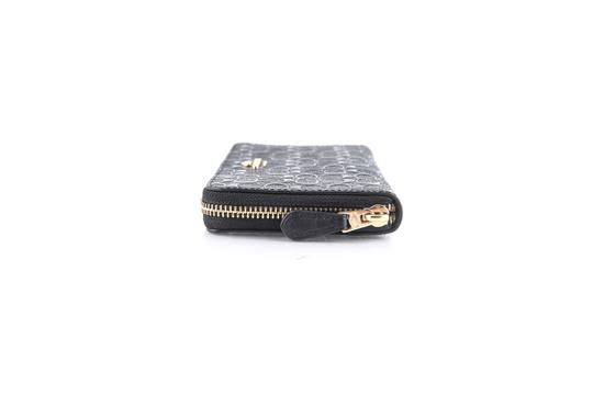 Coach Coach Accordion Zip Wallet in Signature Debossed Patent Leather Black Image 1