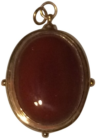Preload https://img-static.tradesy.com/item/22823894/peter-hofmeister-red-agate-and-bronze-hand-made-in-nyc-pendant-0-1-540-540.jpg