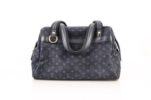 Louis Vuitton Leather Tote in Blue Denim