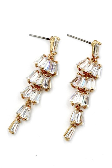 Ocean Fashion Long section with zircon earrings Image 1