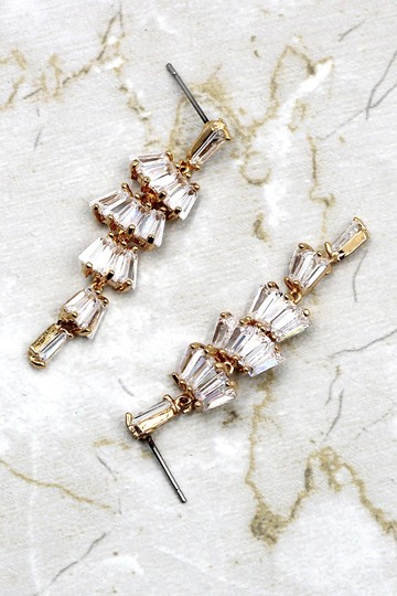 Ocean Fashion Long section with zircon earrings Image 3