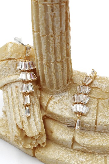 Ocean Fashion Long section with zircon earrings Image 5