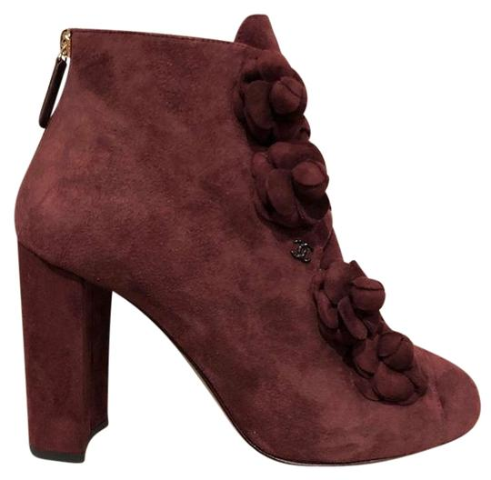 Preload https://img-static.tradesy.com/item/22824061/chanel-burgundy-17a-red-suede-camellia-cc-logo-short-ankle-heel-bootsbooties-size-eu-375-approx-us-7-0-1-540-540.jpg
