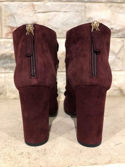 Chanel Camellia Flower Stiletto Ankle burgundy Boots Image 10