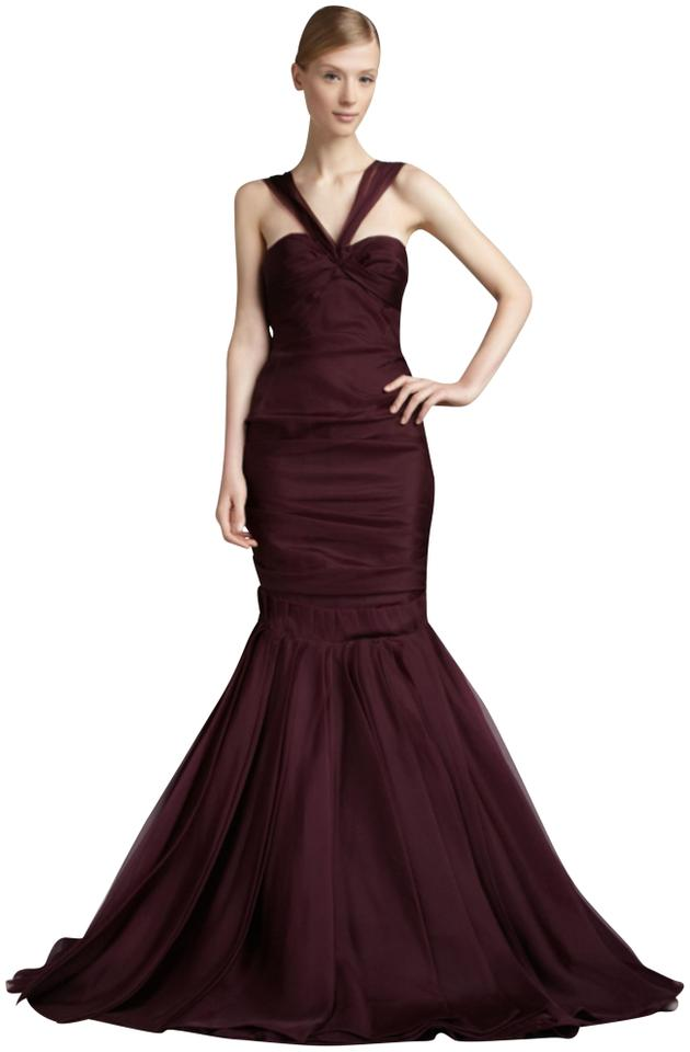J. Mendel Burgundy / Plum Evening Gown Long Formal Dress Size 2 (XS ...
