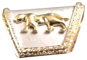 Cougar cougar pendant 14k with very bright & clear diamonds