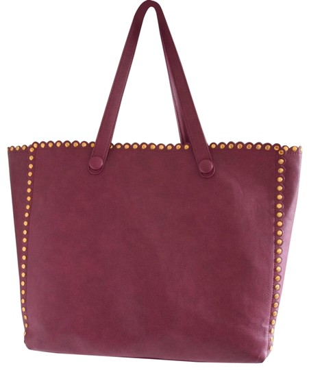 Preload https://img-static.tradesy.com/item/22824145/deux-lux-studded-burgundy-faux-leather-tote-0-1-540-540.jpg