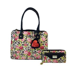 Betsey Johnson Satchel in 2PC Multi-Compartment