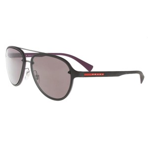 Prada Prada Charcoal/Purple Aviator Sunglasses