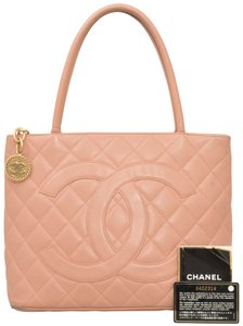 Chanel Quilted Caviar Caviar Leather Satchel in Pink