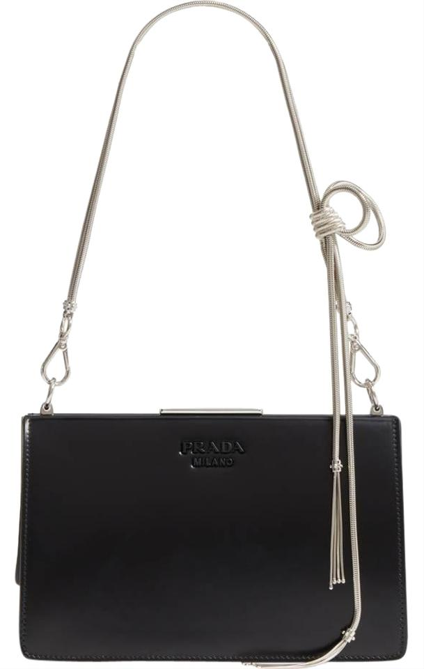 313d3dd4e909b6 Prada New Spazzolato Calfskin Black Leather Cross Body Bag - Tradesy