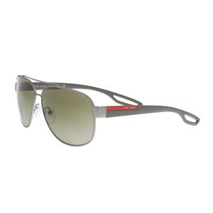 c00f5829b3b Prada Pewter Grey Pewter Grey Aviator Sunglasses - Tradesy