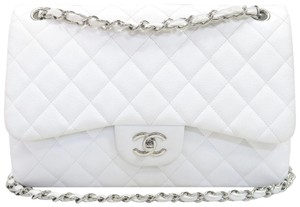 Chanel Jumbo Caviar Double Flap Shoulder Bag