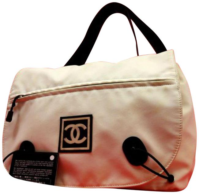 Item - Cc Sports 225347 White X Black Canvas Messenger Bag
