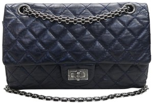 Chanel 2.55 Reissue 225 Double Flap Calfskin Shoulder Bag