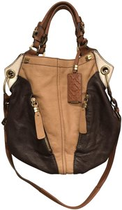 orYANY Hobo Tan Cross Body Color Block Xl Shoulder Bag