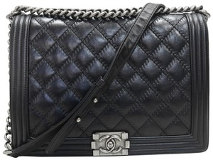 Chanel Large Boy Le Boy Calfskin Shoulder Bag