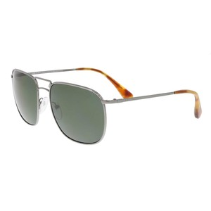 Prada Prada Gunmetal Square Aviator Sunglasses