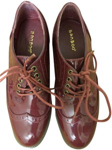 Bamboo Patent Leather Cranberry Loafer Oxford Port Wine Platforms