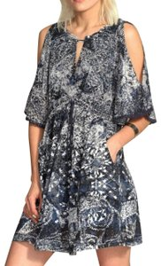 Free People short dress Floral Print Open Shoulder on Tradesy