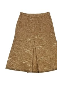 Moschino Tweed Skirt Gold