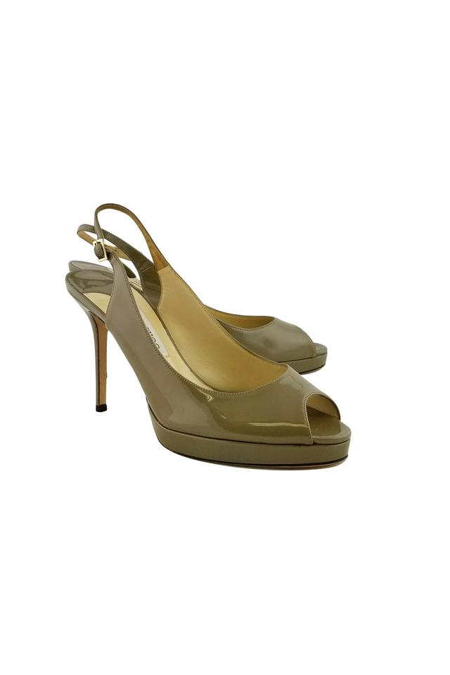 8dc3a9b4264 Jimmy Choo Taupe Slingback Heels Sandals Size US 11 Regular (M