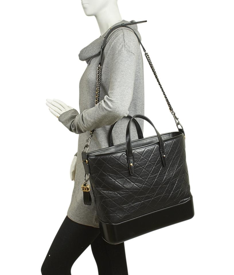 1a2026c3d30d Chanel Gabrielle A93823 Large Shopping Quilted (143269) Black Lambskin Leather  Tote - Tradesy