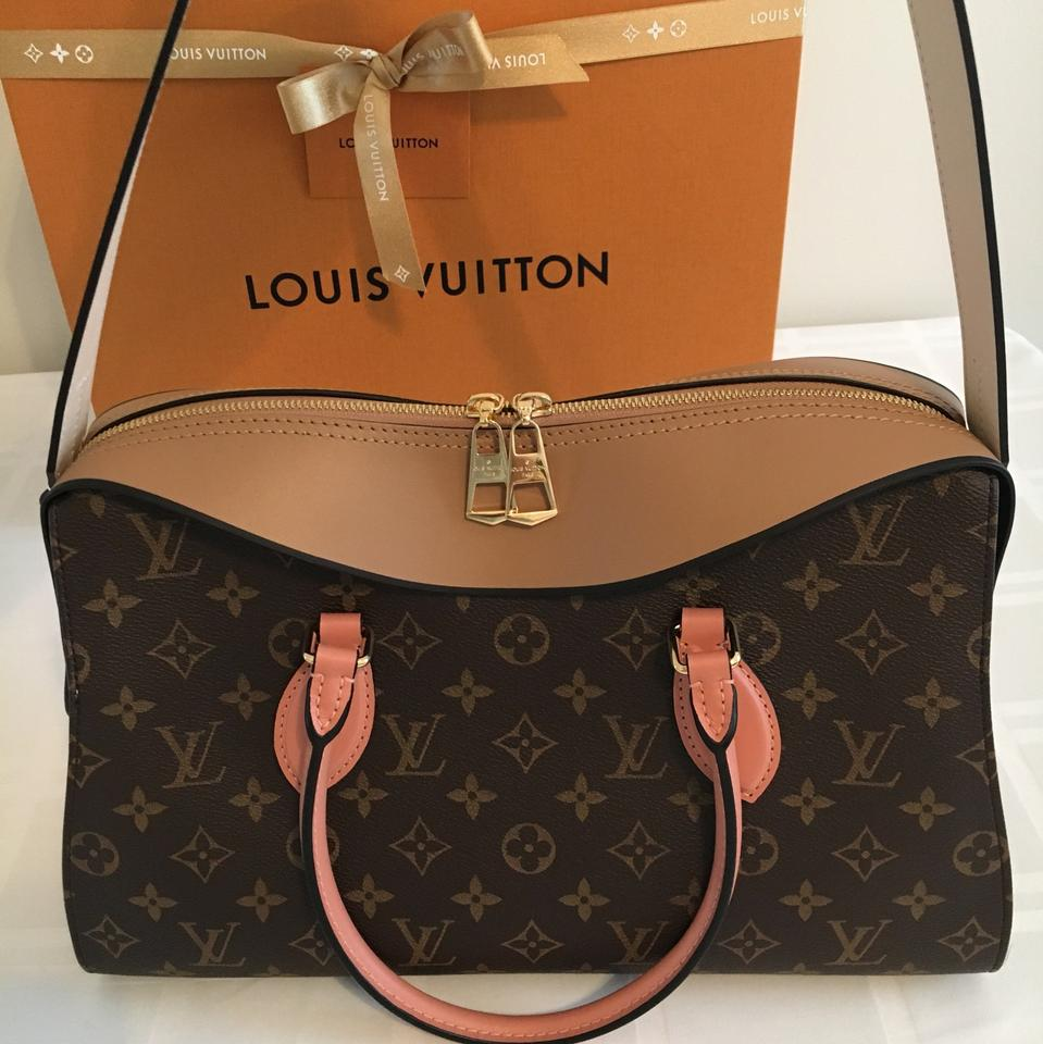 8484773a6c Louis Vuitton Tuileries (Hold For Asia) Beige Creme Peche Leather ...
