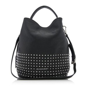 Burberry Brit Black Susanna Leather Hobo Bag With Studs - basement ... 455f14df5ef40