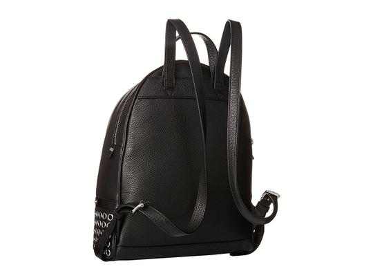 2dc9ec62f5b1 MICHAEL Michael Kors Rhea Zip Grommet Medium Black Leather Backpack ...
