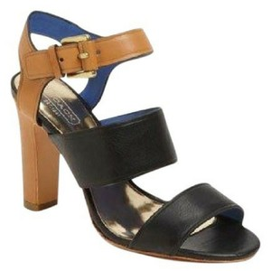 Coach Tan, Black, Blue Sandals