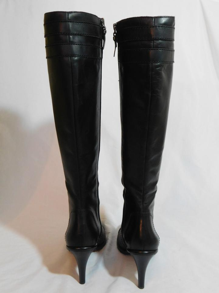 370e0d9af74 Via Spiga Black New Jaffy Waxy Calf Leather Boots/Booties Size US 7 Regular  (M, B) 56% off retail