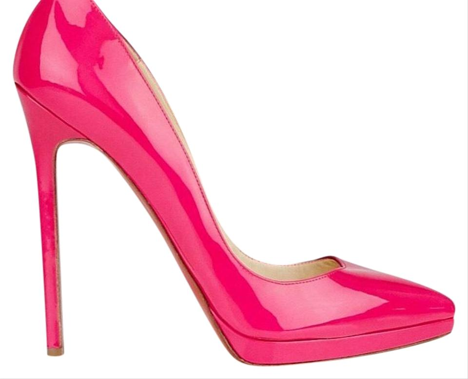ad4ae327894 Christian Louboutin Hot Pink Pigalle Plato 140mm Pumps Size US 8 ...