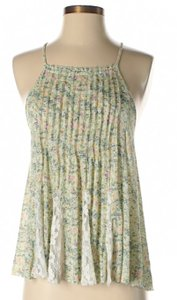 Free People Sleeveless Floral Print Lace Flowy Top