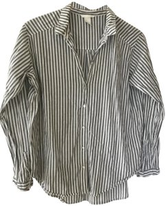 H&M Button Down Shirt Stripes