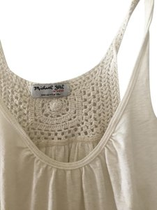 Michael Stars Embroidered Top Ivory