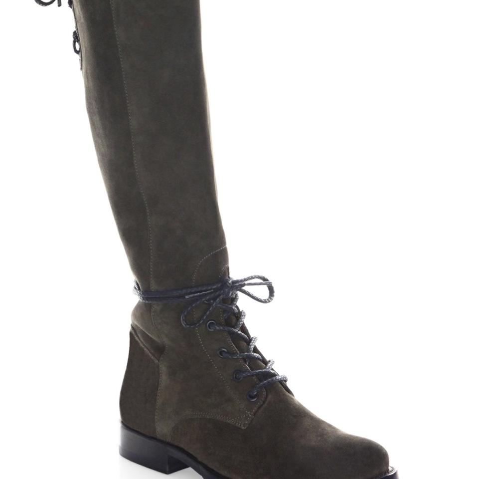18bf78e4f3d Frye Fatigue / Grey Natalie Knee High Suede Combat Boots/Booties Size US 9  Regular (M, B) 64% off retail
